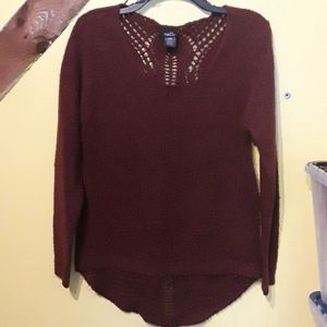 Rue21 burgundy knit sweater